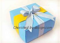 Baby Blue/Yellow Gift Box-gift box