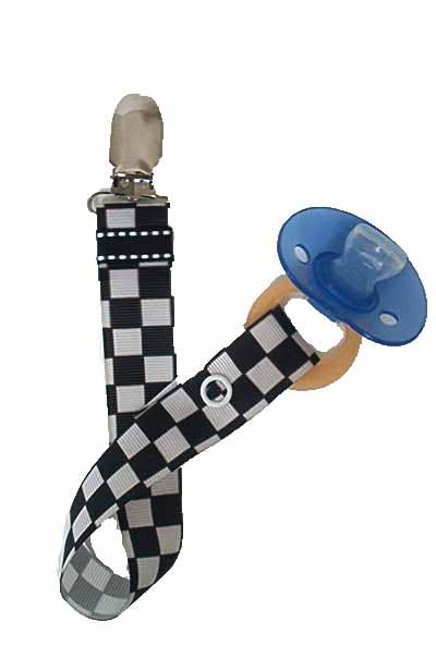 Race Car Paci Clip