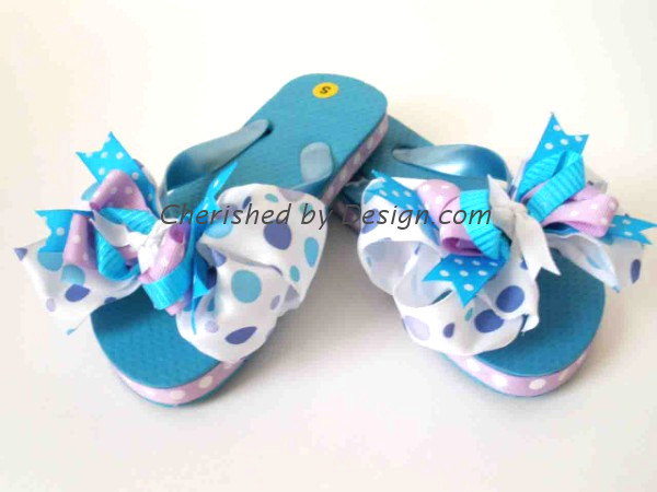 Bella Purple Bow Flip Flop