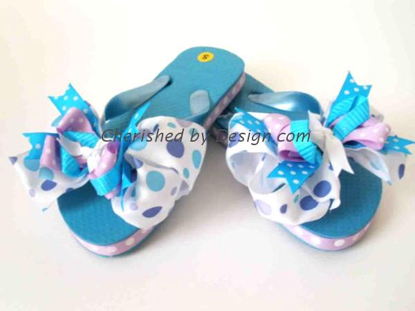 Bella Purple Bow Flip Flop
