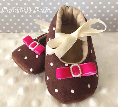 Polished Mahogany Baby Shoes