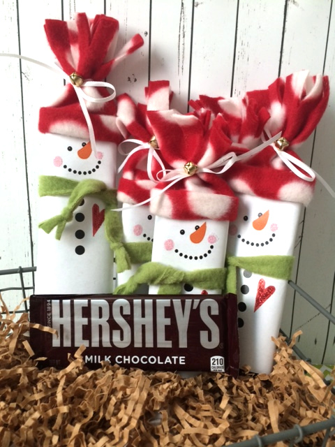 Set of 5 Snowman Hershey Wrappers