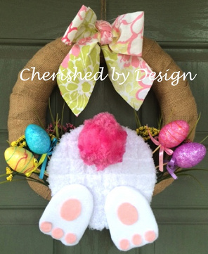 Easter/Spring Bunny Wreath