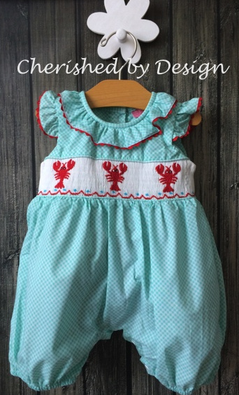 Smocked Lobster Romper