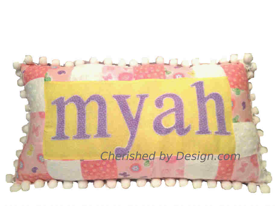 Pastel Patchwork Name Pillow