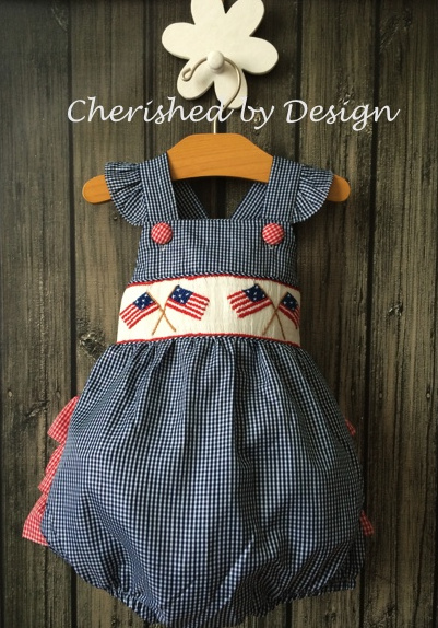 Smocked Patriotic Bubble