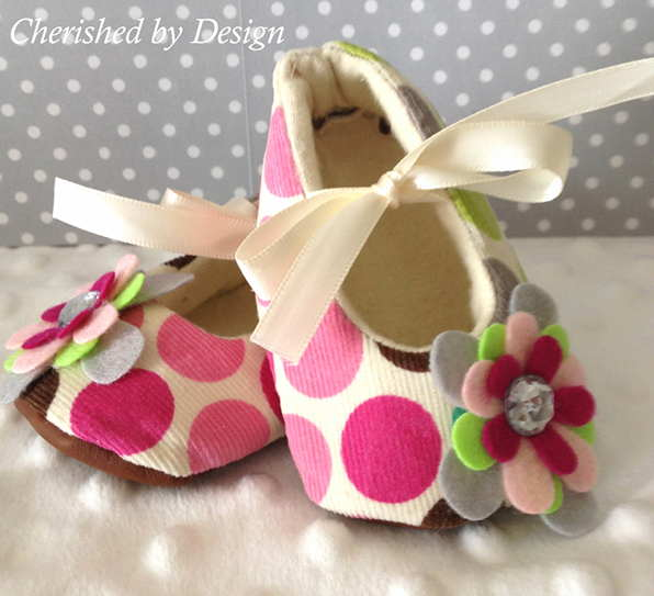 Pressed Flower Baby Booties