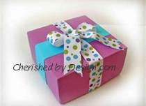 Purple/Turqouise Gift Box