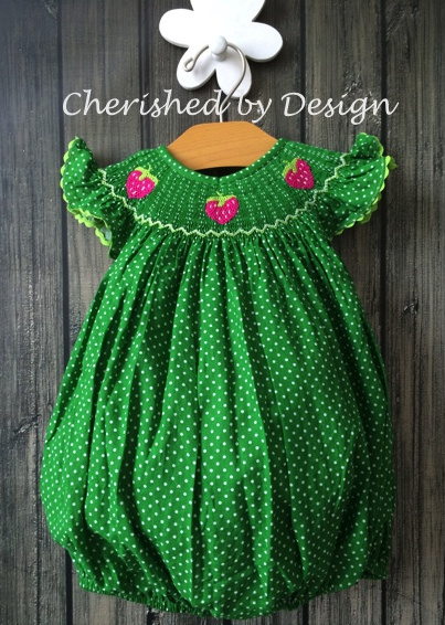 Smocked Strawberry Bubble