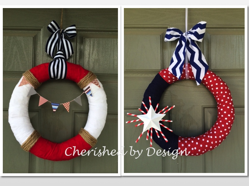 Patriotic or Nautical Themed Wreath