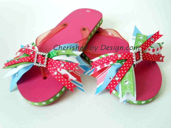 Pink Bling Bow Flip Flop