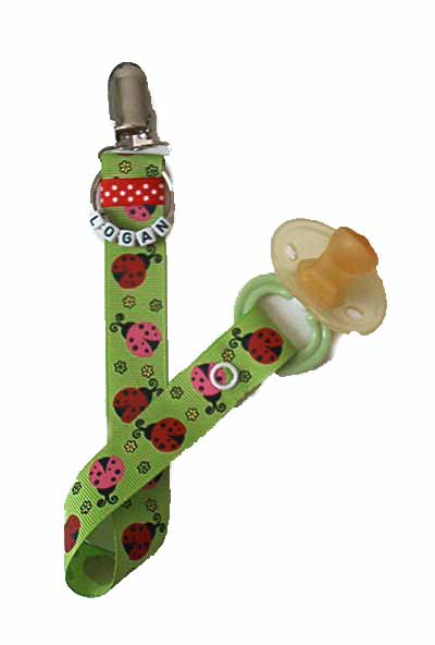 Ladybug Pacifier Clip