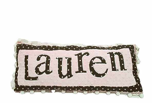 Lauren Personalized Name Pillow