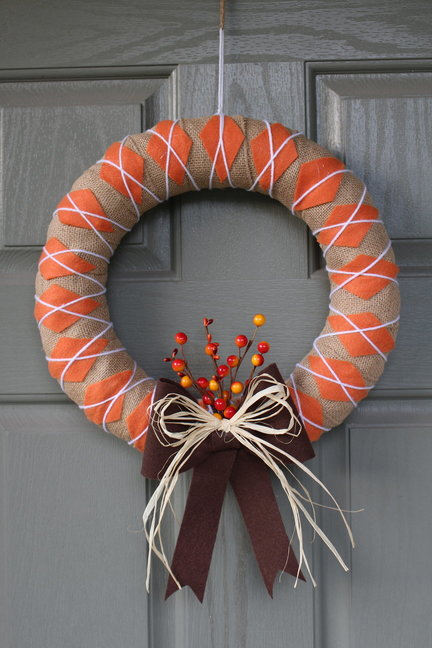 Fall Argyle Wreath