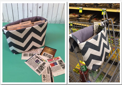 Gray Chevron Coupon Holder