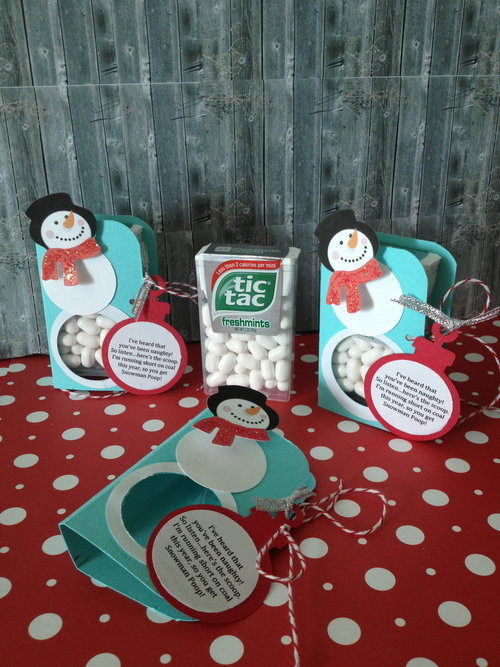 Set of 3 Snowman Poop Favors