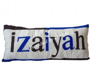 Izaiyah Blue Personalized Pillow-personalized name pillow