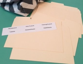 8 Customized labels & dividers for Coupon Holder
