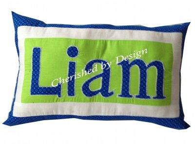 Liam Personalized Name Pillow