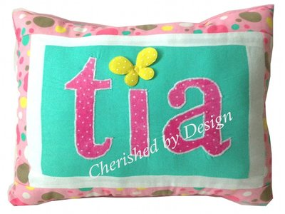 Polka Dot Pastel Personalized Name Pillow