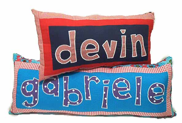 Completely new Personalized Name Pillows LW01